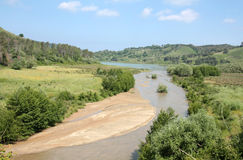 Долина реки Angitola стоковые фотографии rf