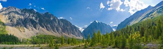 долина России панорамы гор aktru малая стоковые фото