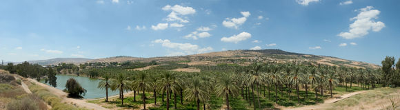 долина серии Иордана holyland Стоковое Фото