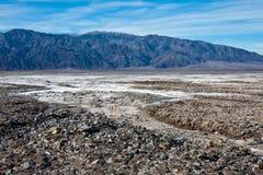 долина соли квартир смерти утесистая Стоковые Изображения RF