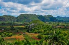 долина табака горы ландшафта Стоковое Фото