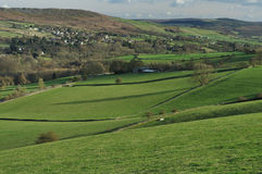 долина упования froggatt Англии края Стоковые Фото