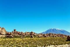 Долина утесов в Altiplano Боливии, Южной Америки стоковые фотографии rf