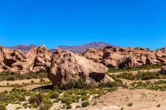 Долина утесов в Altiplano Боливии, Южной Америки стоковое фото rf