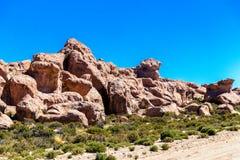 Долина утесов в Altiplano Боливии, Южной Америки стоковое фото