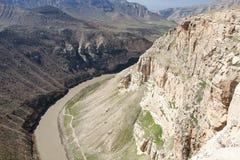 Долина Botan, Siirt, юговосточная Анатолия индюк Стоковые Фото