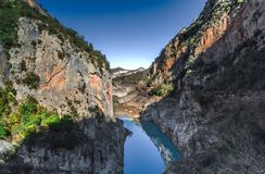 Долина congost de montrebei стоковое фото