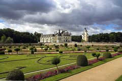 долина de Франции loire chenonceau замка Стоковые Фото