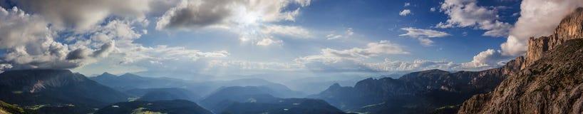 Долина Eggen в доломитах Стоковое Фото