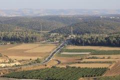 Долина Ellah в холмах Judeia Стоковые Изображения RF