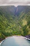 Долина Honopue, большой остров, Гаваи Стоковые Фотографии RF