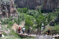 Долина Ihlara, Cappadocia, Турция Стоковое Фото