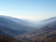 долина jerte стоковая фотография