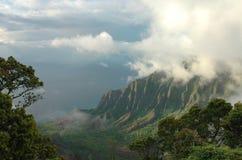 долина kauai kalalau Стоковое Фото