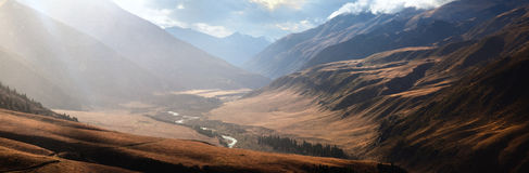 долина kazakhstan chilik осени стоковые фотографии rf