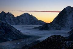 долина khumbu Стоковые Фотографии RF