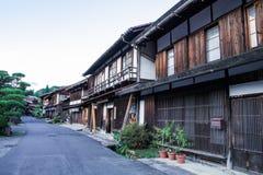 Долина Kiso старый городок или японское традиционное деревянное buil Стоковые Фото