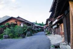 Долина Kiso старый городок или японское традиционное деревянное buil Стоковое Фото