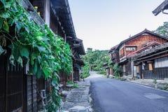 Долина Kiso старый городок или японское традиционное деревянное buil Стоковые Изображения