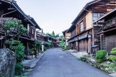 Долина Kiso старый городок или японское традиционное деревянное buil Стоковая Фотография
