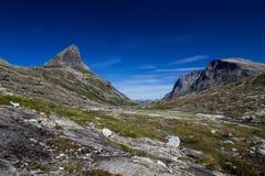 Долина Meiadalen на дороге горы Geiranger Trollstigen в южной Норвегии Стоковое Изображение