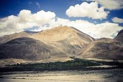 долина nubra Гималаев Стоковое Изображение