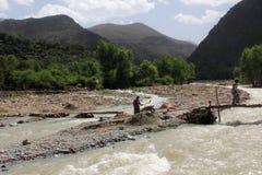 долина ourika стоковое изображение rf
