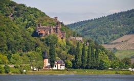 долина rhine reichenstein замока известная Стоковая Фотография RF