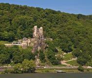 долина rhine rheinstein замока известная Стоковое Изображение