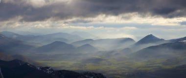 Долина Sakana от San Miguel de Aralar, Navarra Стоковая Фотография RF