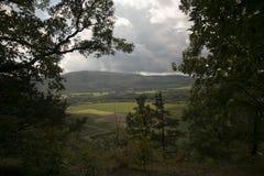 Долина Schoharie, Нью-Йорк, как увидено от носа ` s Vroman Стоковое Изображение