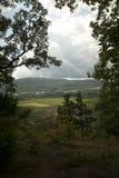 Долина Schoharie, Нью-Йорк, как увидено от носа ` s Vroman Стоковая Фотография RF