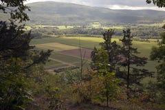 Долина Schoharie, Нью-Йорк, как увидено от носа ` s Vroman Стоковое Изображение RF