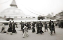долина stupa kathmandu Непала boudnath Стоковое Изображение