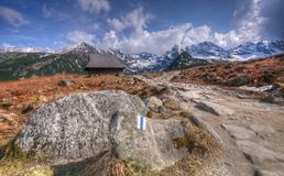 долина tatra гор hala gasienicowa польская Стоковые Изображения