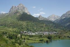 долина tena pyrenees sallent горы озера Стоковая Фотография RF