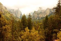 долина yosemite осени Стоковые Фото
