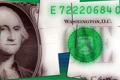 Долларовая банкнота валюты одного Соединенных Штатов Стоковая Фотография