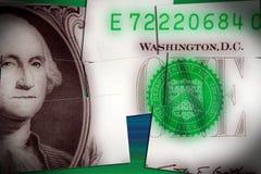 Долларовая банкнота валюты одного Соединенных Штатов Стоковые Фото