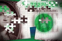 Долларовая банкнота валюты одного Соединенных Штатов Стоковое Изображение