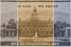 Долларовая банкнота валюты 100 США Стоковые Фото