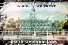 Долларовая банкнота валюты 100 США Стоковое Фото