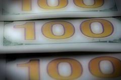 Долларовая банкнота валюты 100 США Стоковые Изображения