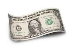 Долларовая банкнота изолированная на белой предпосылке Стоковое Изображение RF