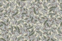 Долларовые банкноты кучи 100 денег Стоковая Фотография