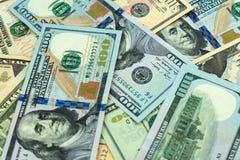 Долларовые банкноты различных деноминаций ( стоковые изображения rf