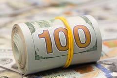 100 долларовых банкнот США, изображение стоковые изображения rf