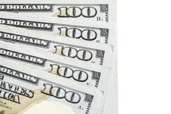100 100 долларовых банкнот Стоковые Изображения RF