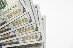 100 100 долларовых банкнот Стоковое Изображение RF