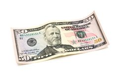 50 долларов банкноты Стоковое фото RF